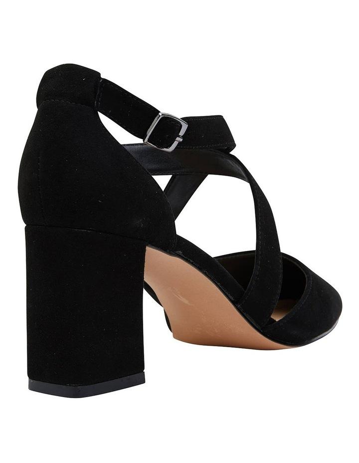 Kara Black Suede Heeled Shoes image 4
