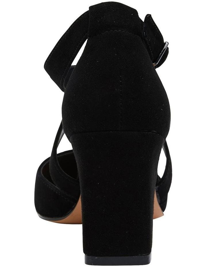 Kara Black Suede Heeled Shoes image 5