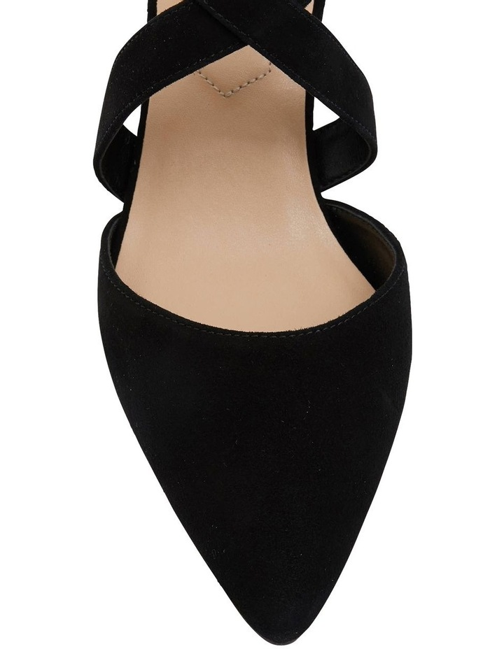 Kara Black Suede Heeled Shoes image 6
