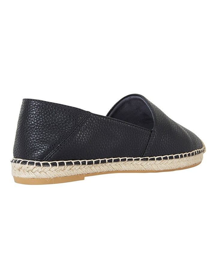 Bella Black Pebble Flat Shoes image 4