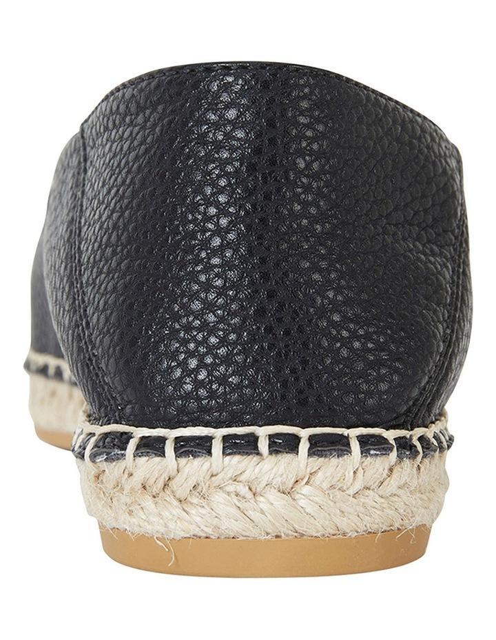 Bella Black Pebble Flat Shoes image 5