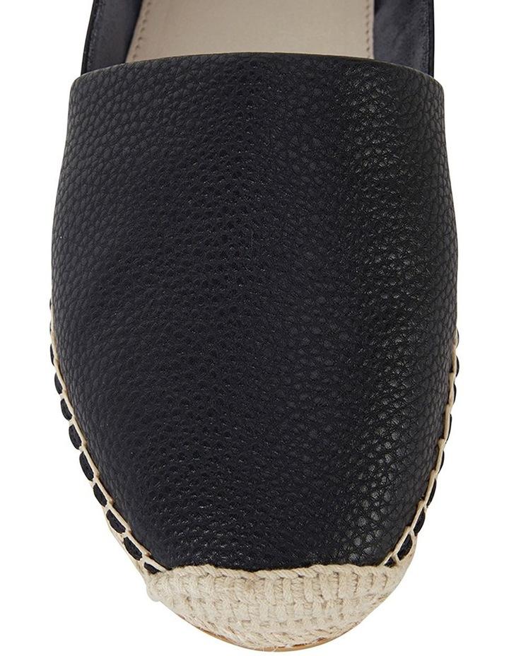Bella Black Pebble Flat Shoes image 6