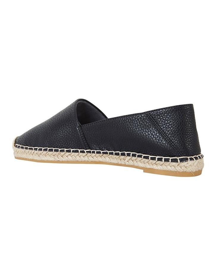 Bella Black Pebble Flat Shoes image 7