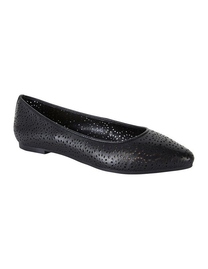 Leah Black Glove Flat Shoes image 2