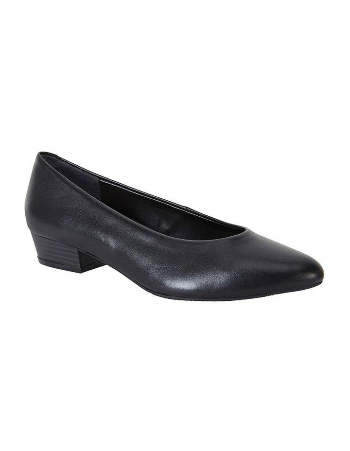 Emily Black Glove Heeled Shoes image 2