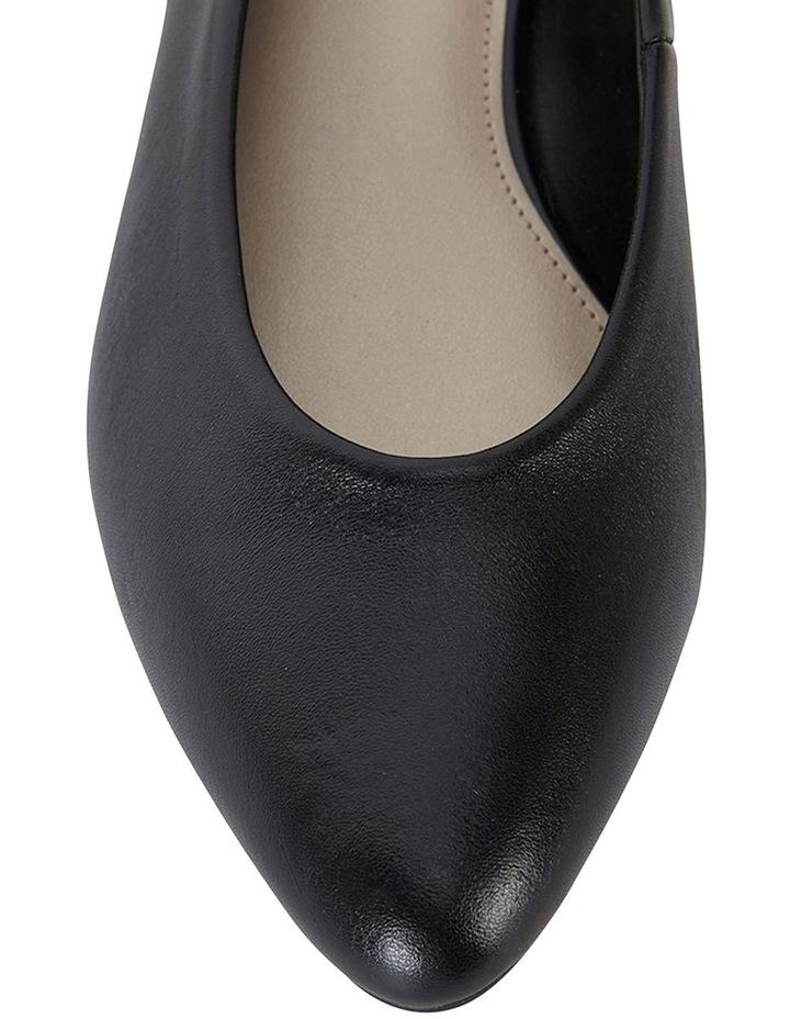 Emily Black Glove Heeled Shoes image 6