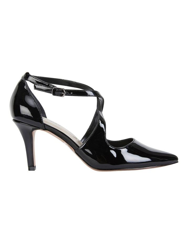 Merit Black Patent Heeled Shoes image 1