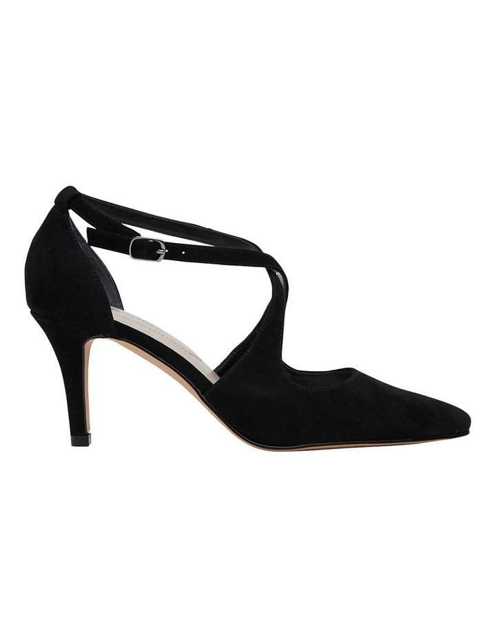 Merit Black Suede Heeled Shoes image 1