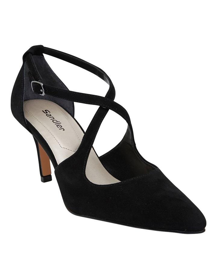 Merit Black Suede Heeled Shoes image 2