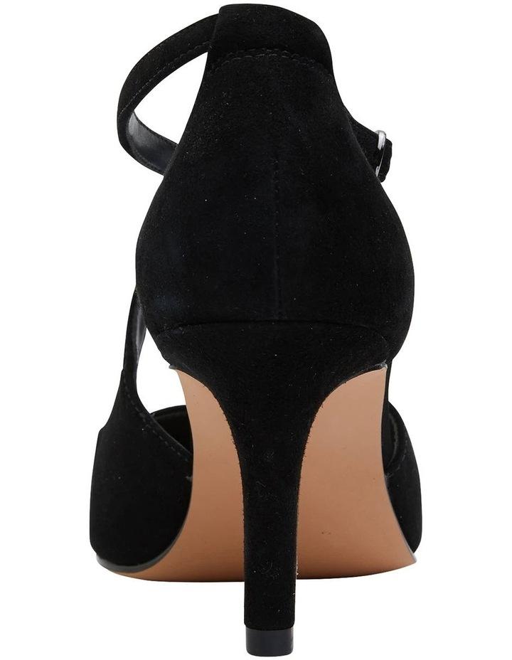 Merit Black Suede Heeled Shoes image 5