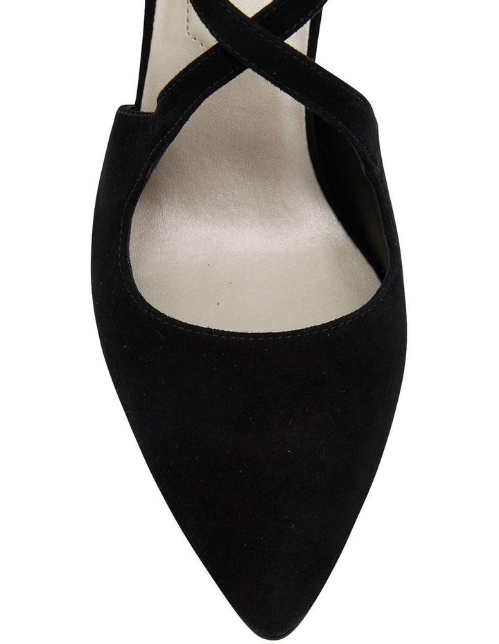 Merit Black Suede Heeled Shoes image 6