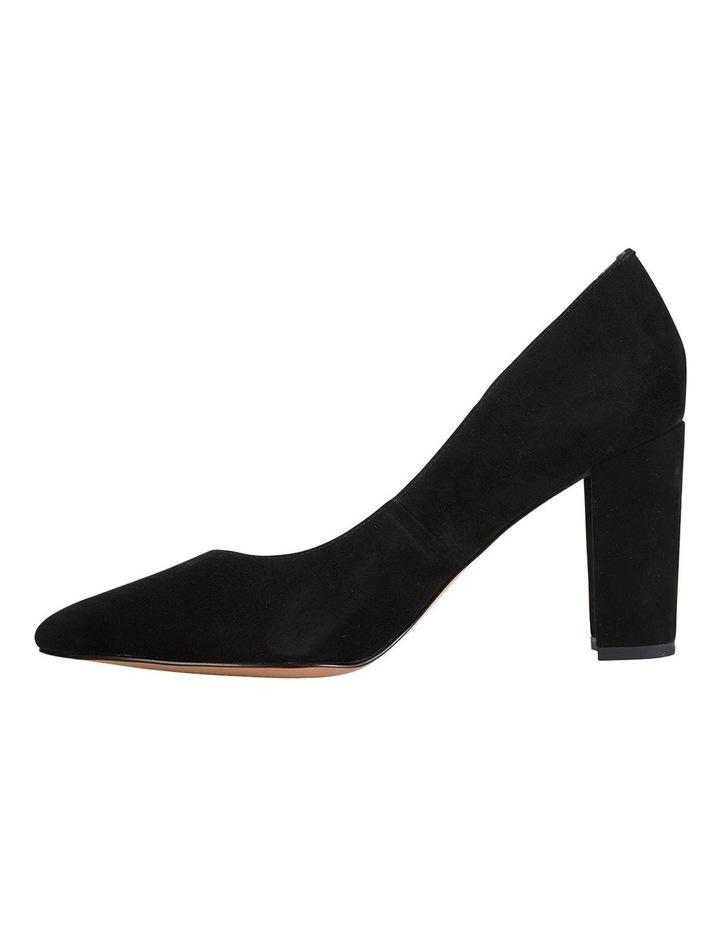 Lyric Black Suede Heeled Shoes image 1