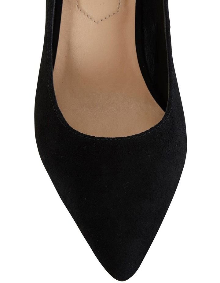 Lyric Black Suede Heeled Shoes image 3