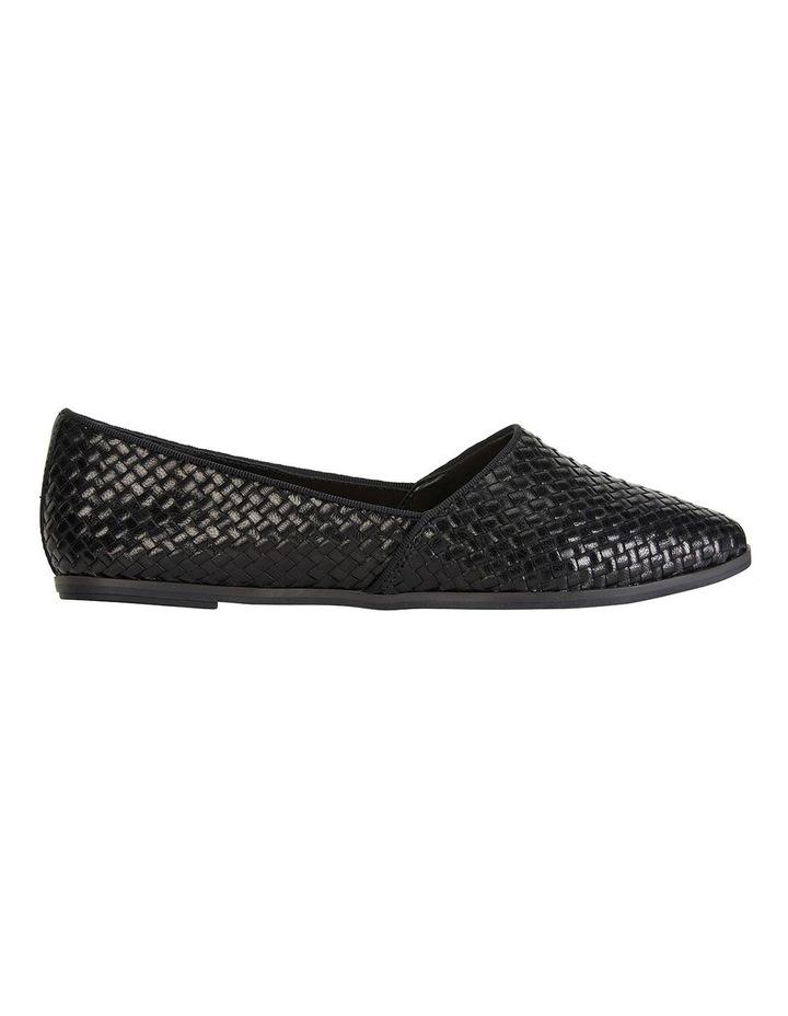 Shift Black Plait Flat Shoes image 1