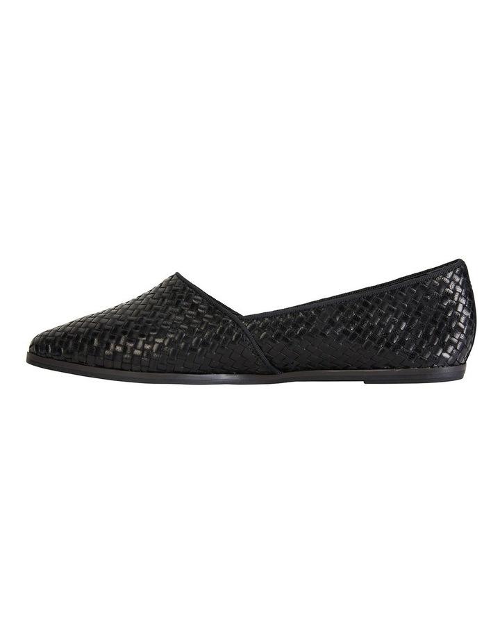 Shift Black Plait Flat Shoes image 2