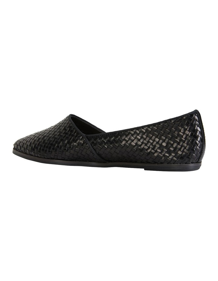 Shift Black Plait Flat Shoes image 4
