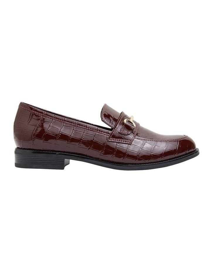 Paragon Burgundy Patent Croc Flat Shoes image 1