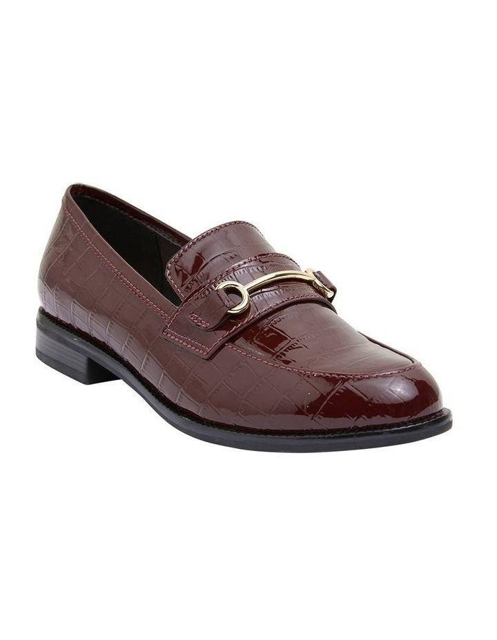 Paragon Burgundy Patent Croc Flat Shoes image 2