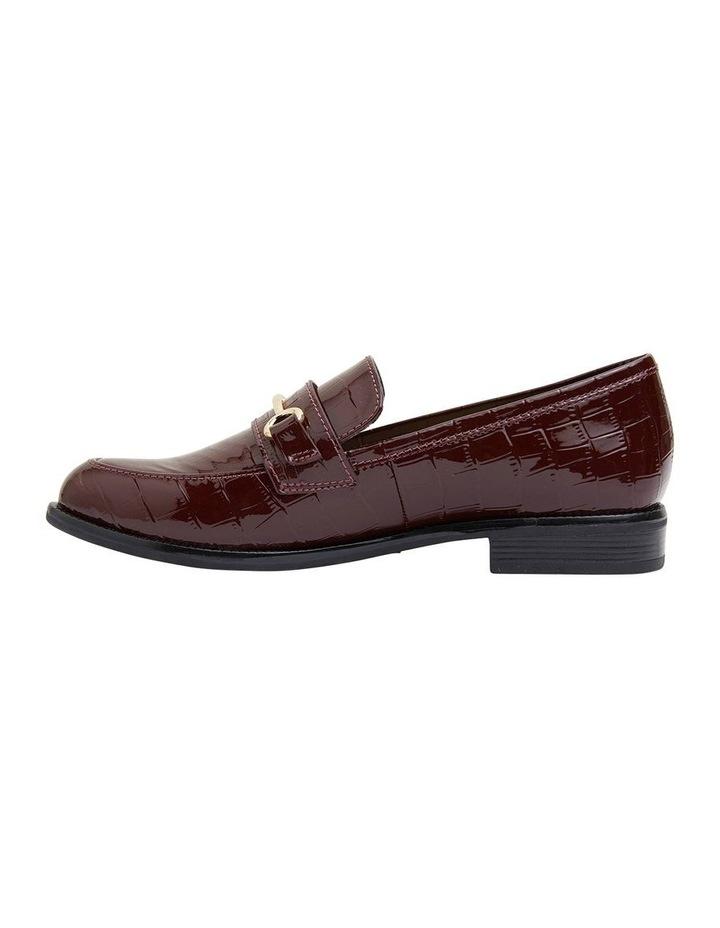 Paragon Burgundy Patent Croc Flat Shoes image 3
