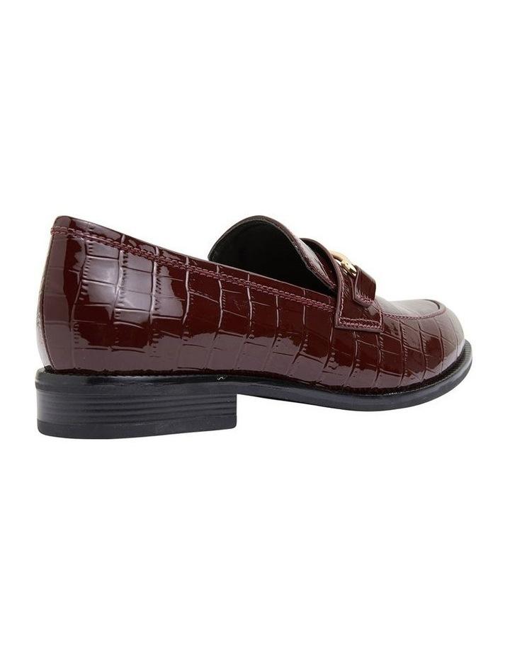 Paragon Burgundy Patent Croc Flat Shoes image 4