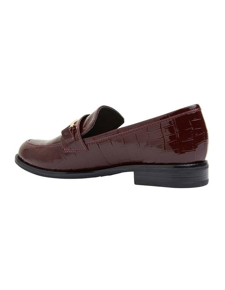 Paragon Burgundy Patent Croc Flat Shoes image 7