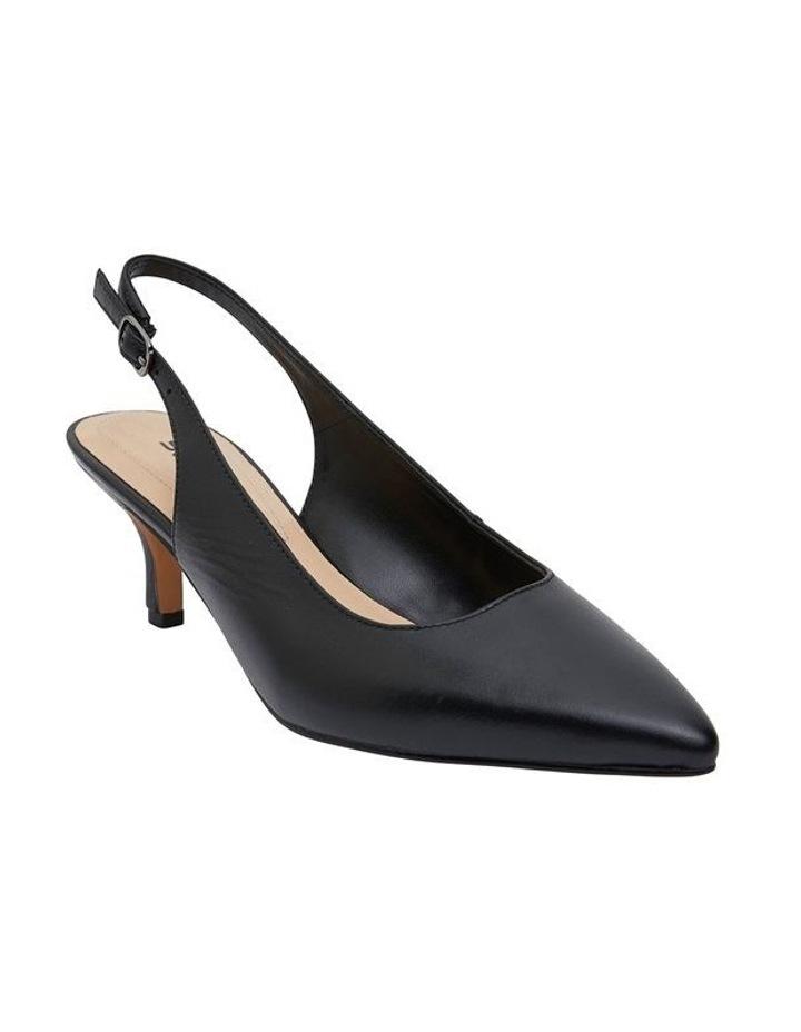 Nina Black Glove Heeled Shoes image 2