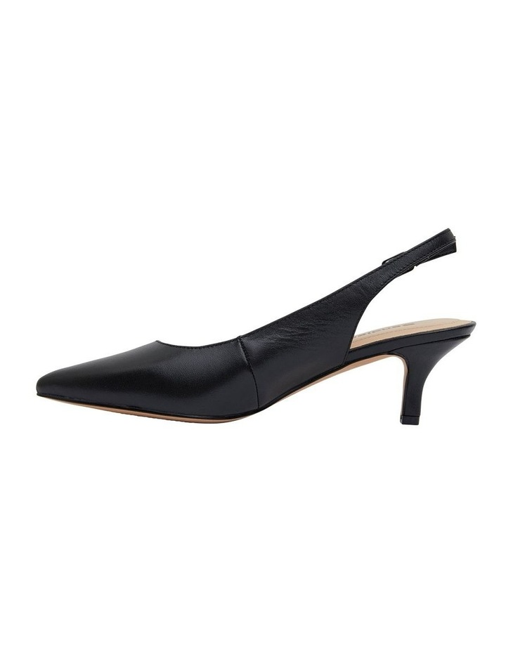 Nina Black Glove Heeled Shoes image 3