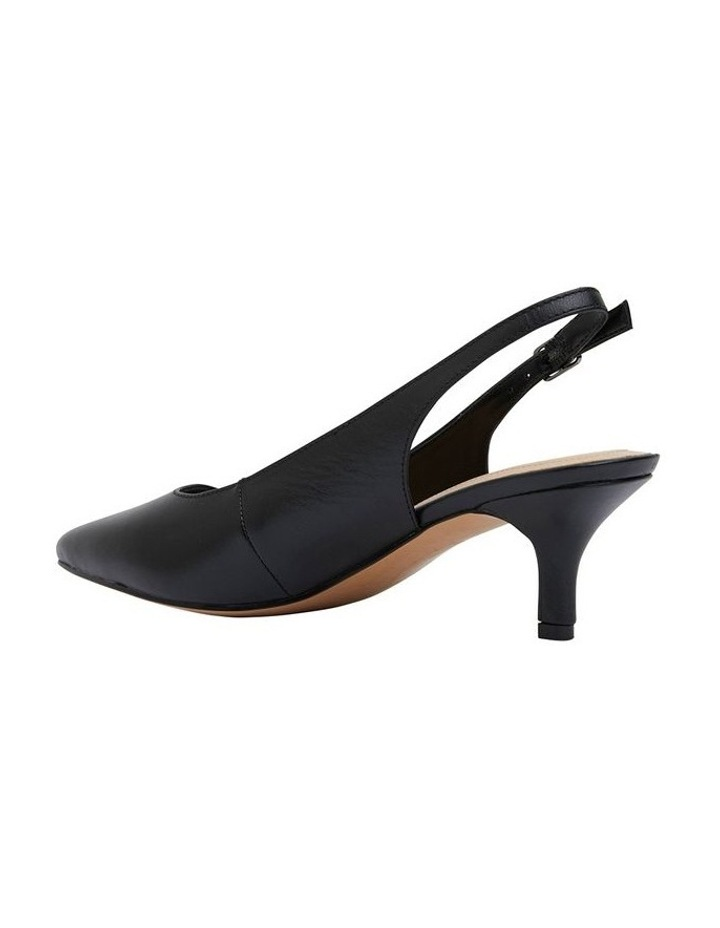 Nina Black Glove Heeled Shoes image 7