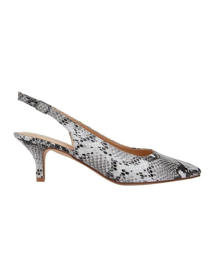 Nina Neutral Snake Heeled Shoes image 1