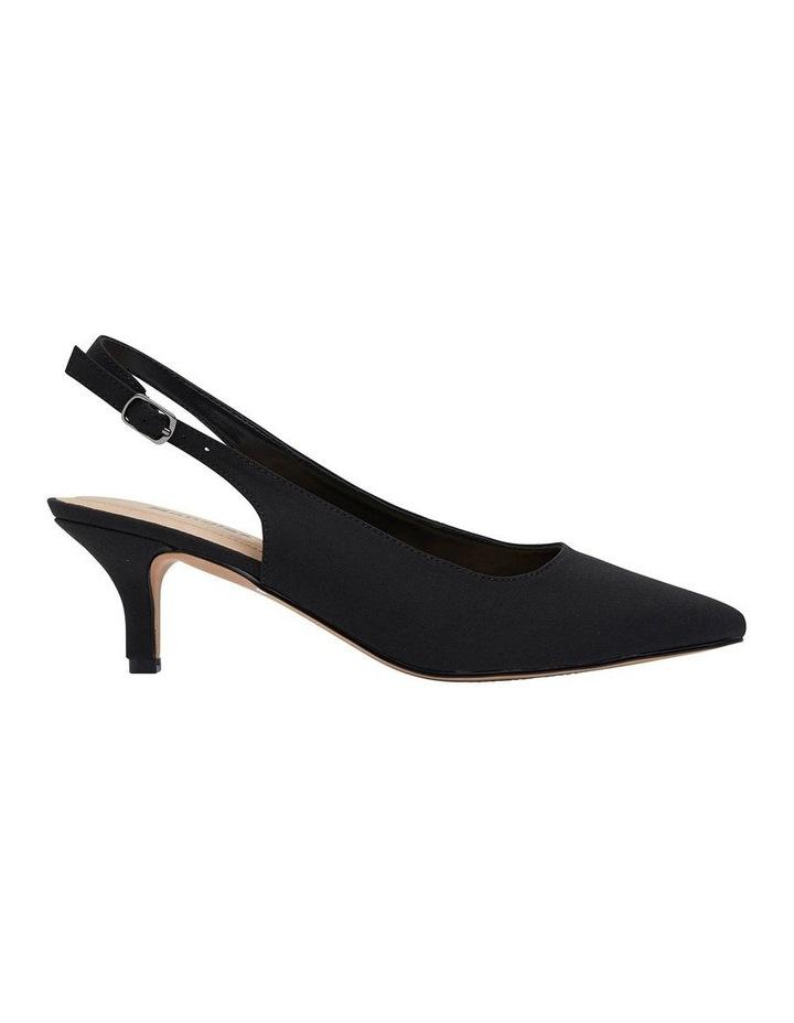 Nina Black Fabric Heeled Shoes image 1