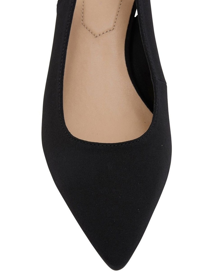 Nina Black Fabric Heeled Shoes image 6