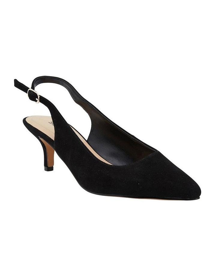 Nina Black Suede Heeled Shoes image 2