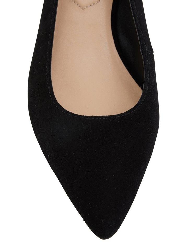 Nina Black Suede Heeled Shoes image 6