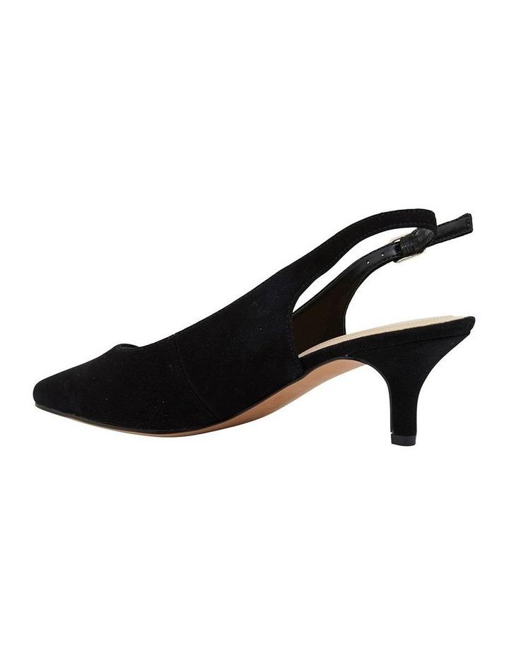 Nina Black Suede Heeled Shoes image 7