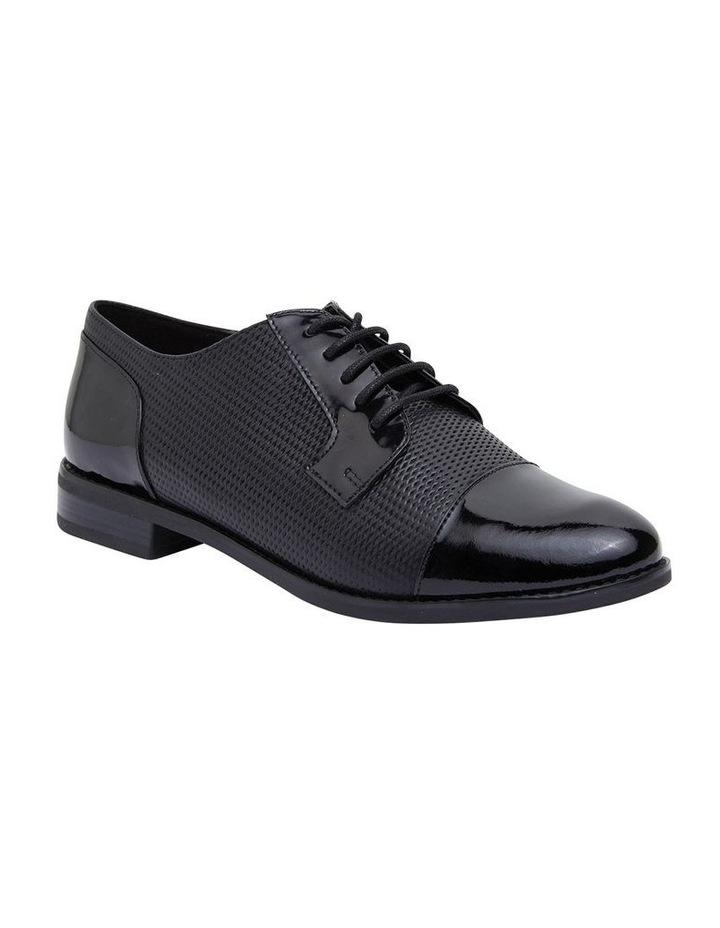 Panache Black Patent/Glove Flat Shoes image 2