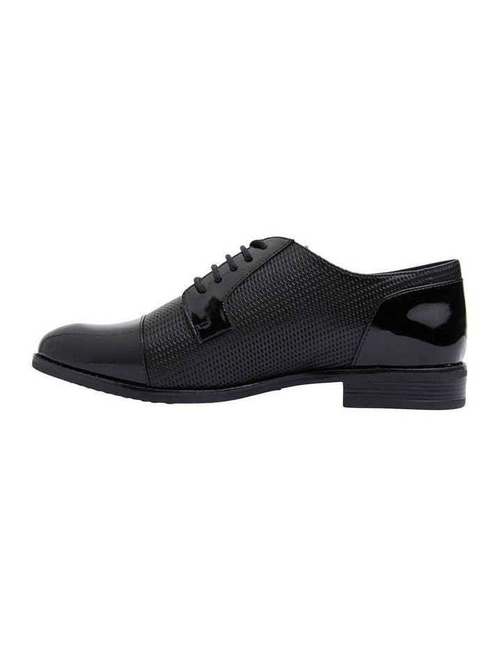 Panache Black Patent/Glove Flat Shoes image 3