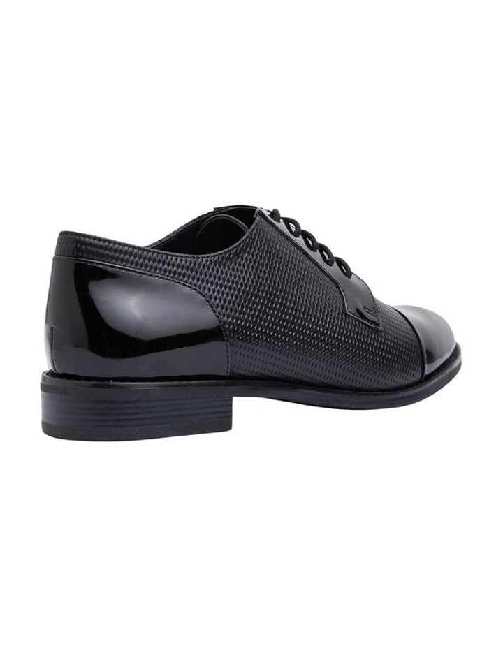 Panache Black Patent/Glove Flat Shoes image 4