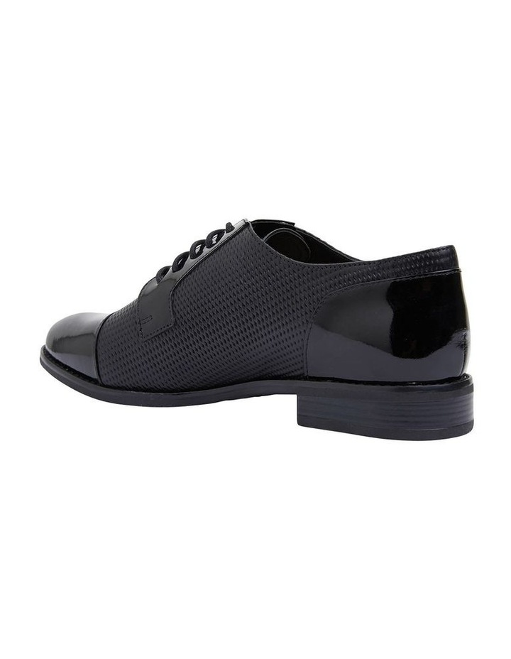 Panache Black Patent/Glove Flat Shoes image 6