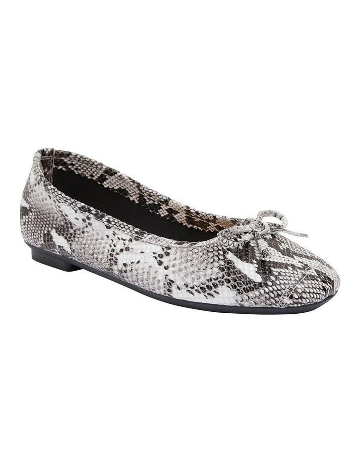 Alexa Taupe Snake Flat Shoes image 2