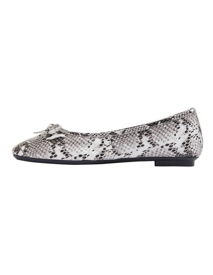 Alexa Taupe Snake Flat Shoes image 3