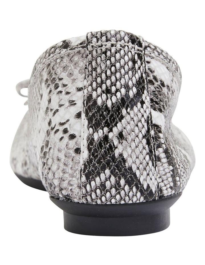 Alexa Taupe Snake Flat Shoes image 5