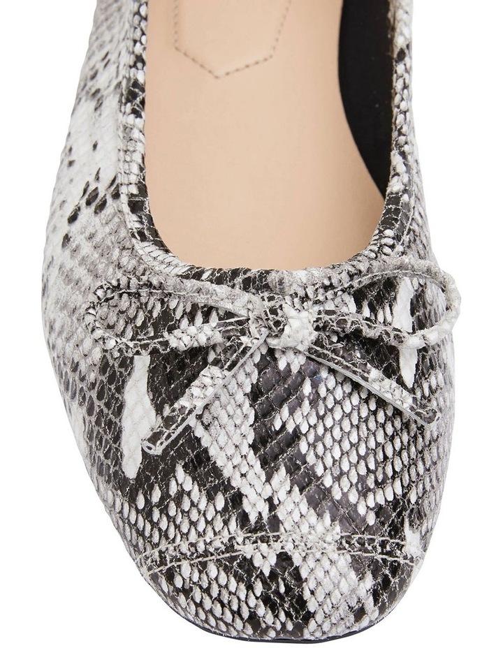 Alexa Taupe Snake Flat Shoes image 6