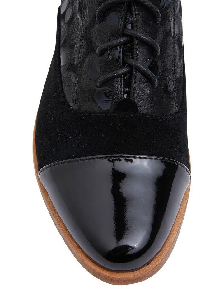 Shiraz Black Multi Flat Shoes image 6