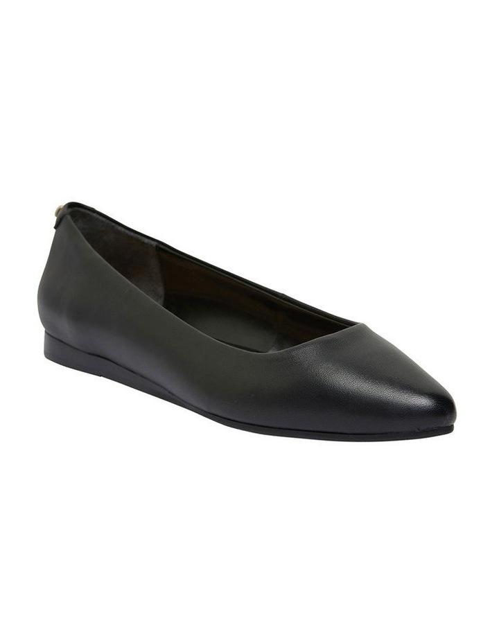 Laura Black Glove Flat Shoes image 1