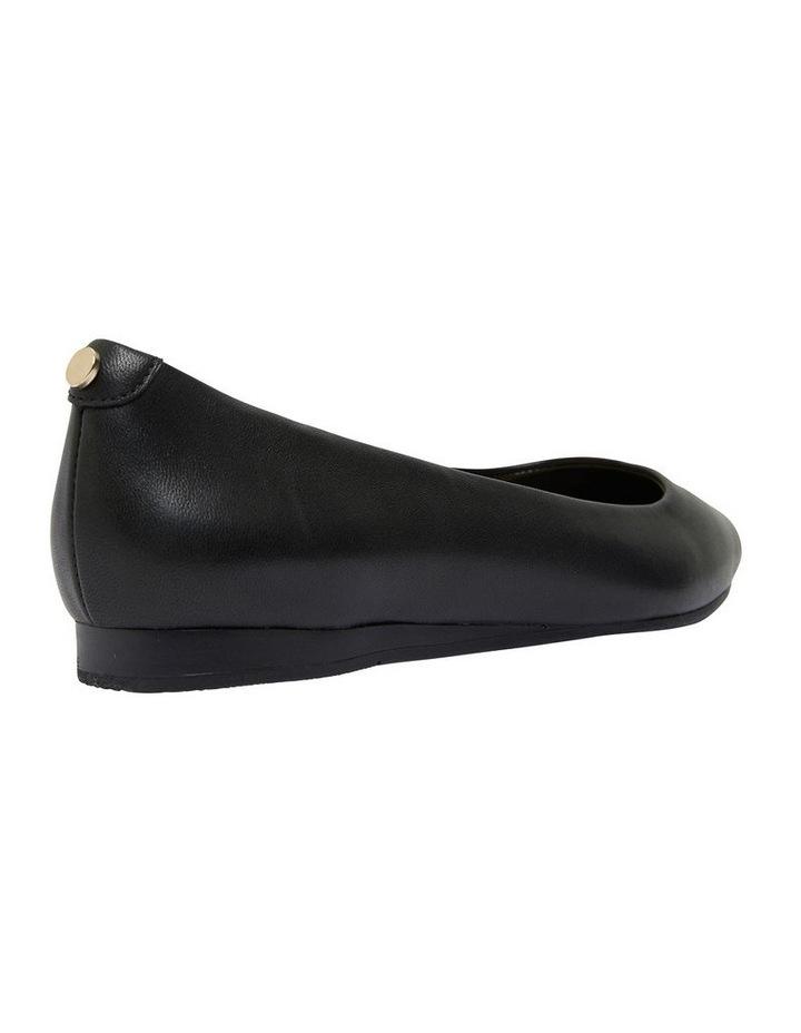 Laura Black Glove Flat Shoes image 3