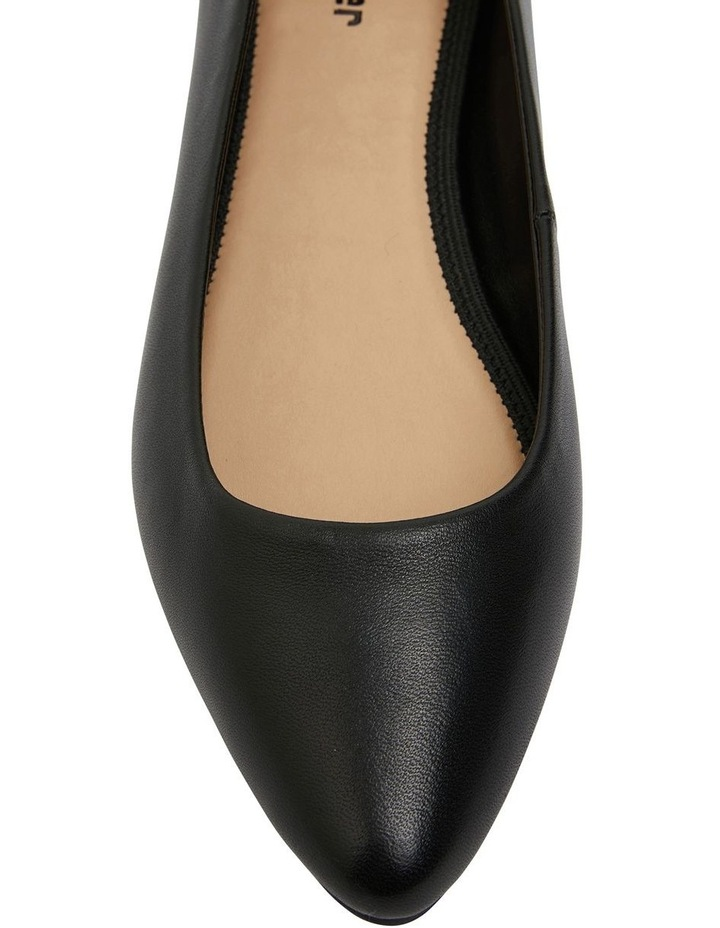 Laura Black Glove Flat Shoes image 6