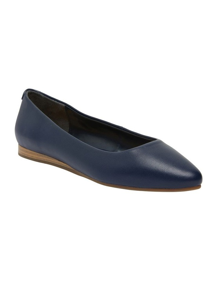 Laura Navy Glove Flat Shoes image 1