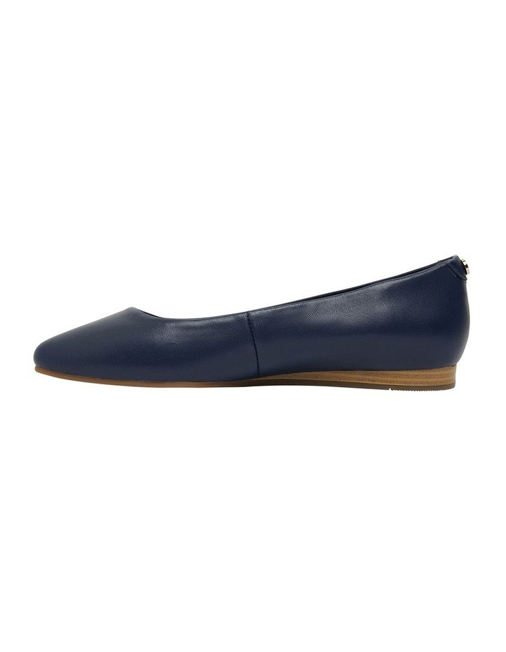 Laura Navy Glove Flat Shoes image 2