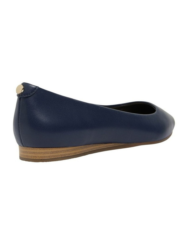 Laura Navy Glove Flat Shoes image 3