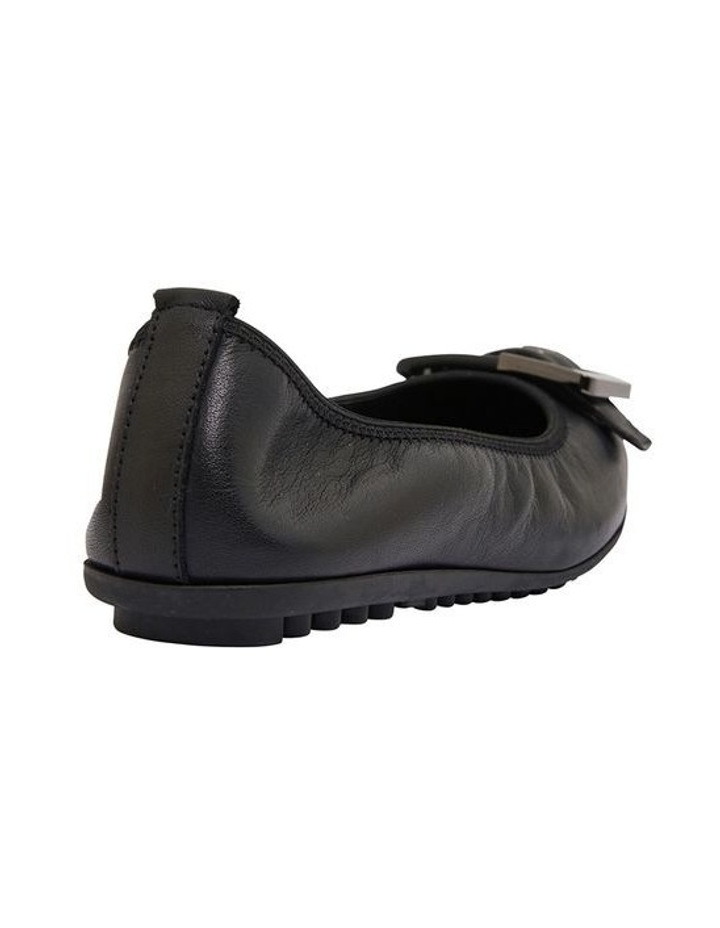 Pentagon Black Glove Flat Shoes image 4